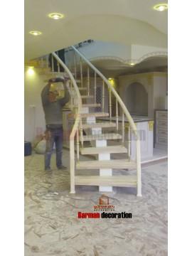 پله پیچ تک محورمیانی با ارتفاع 3متر