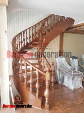 پله گرد پروژه مسکونی شهرک چشمه