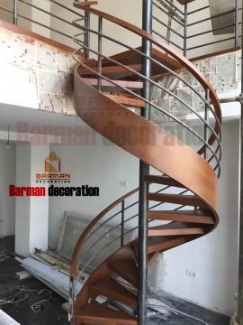 پله گرد پله فلزی نرده فلزی