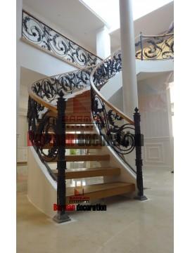 پله پیچ - پله گرد -نرده فرفورژه گرد پله مارپیچ